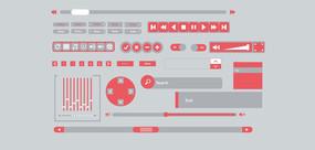 扁平化播放器图标设计 AI