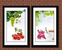 餐厅鲜花水果装饰画