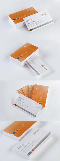 橙色简约广告公司名片设计