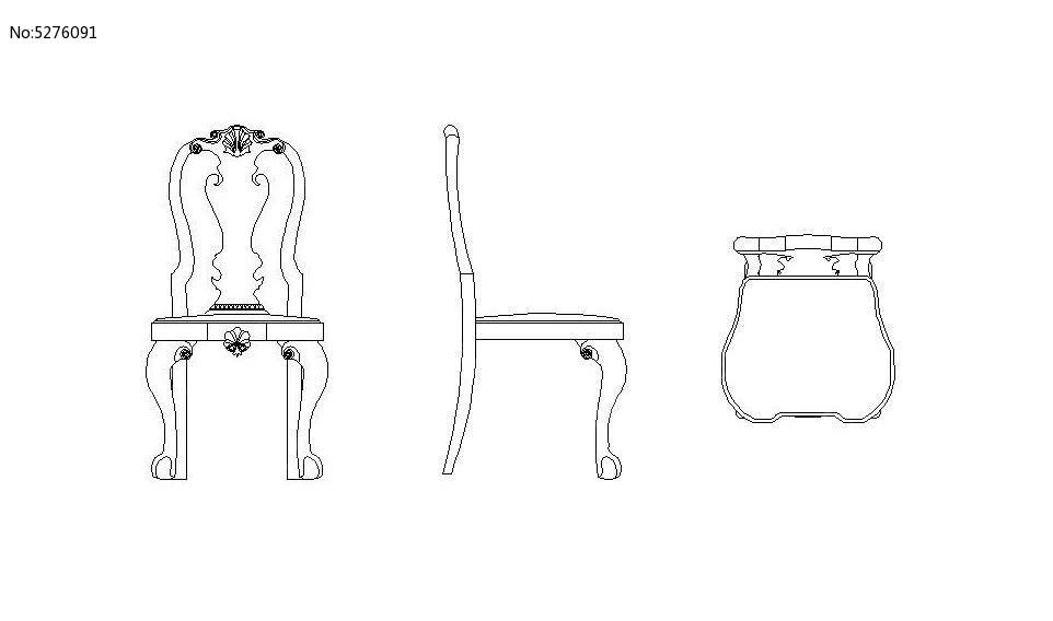 木椅马克笔手绘