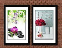 漂亮花卉餐厅装饰画