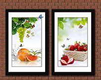 清新餐厅水果装饰画