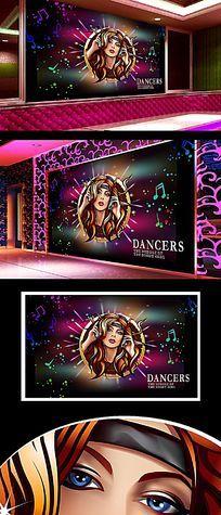 舞厅展板背景