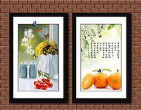 新鲜水果装饰画