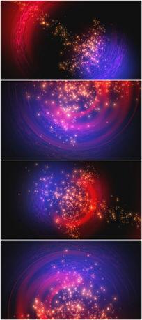 2k超清红蓝粒子冲撞背景视频素材