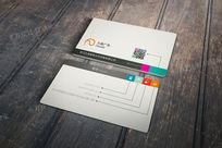 创意二维码广告公司名片设计