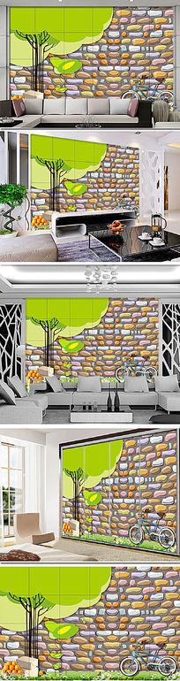 个性抽象树电视背景墙装饰画