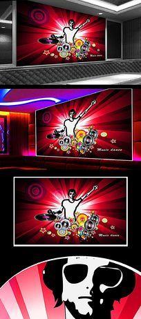 狂欢音乐背景墙