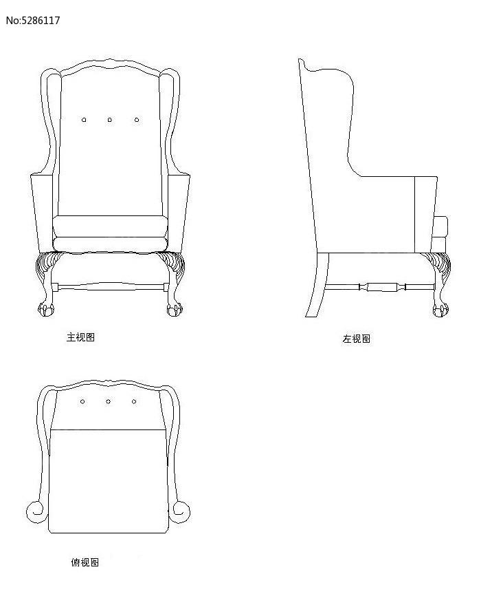 沙发椅v图纸CAD图纸_CAD虚线图片素材cad比例素材设置图片