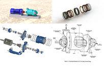 液环泵全套零件三维模型