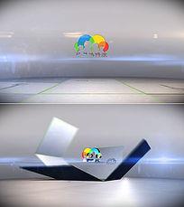 3d立体logo展示片头AE模板