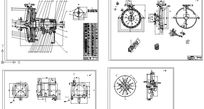 EPR漩涡泵总装及其配件cad素材 CAD
