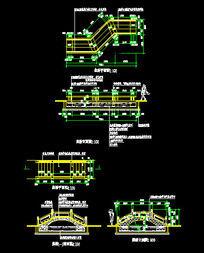 公园景观桥施工图CAD素材
