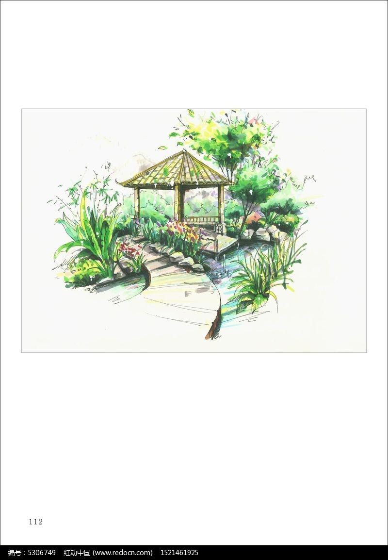 景观园林手绘图片