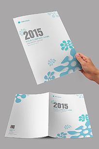 清新蓝色花朵商业画册封面