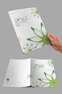 清新绿色花朵商业封面