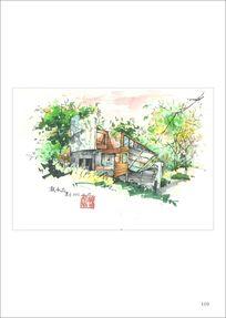 手绘景观园林