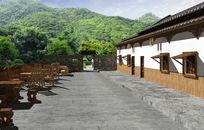 休闲民居小院景观设计