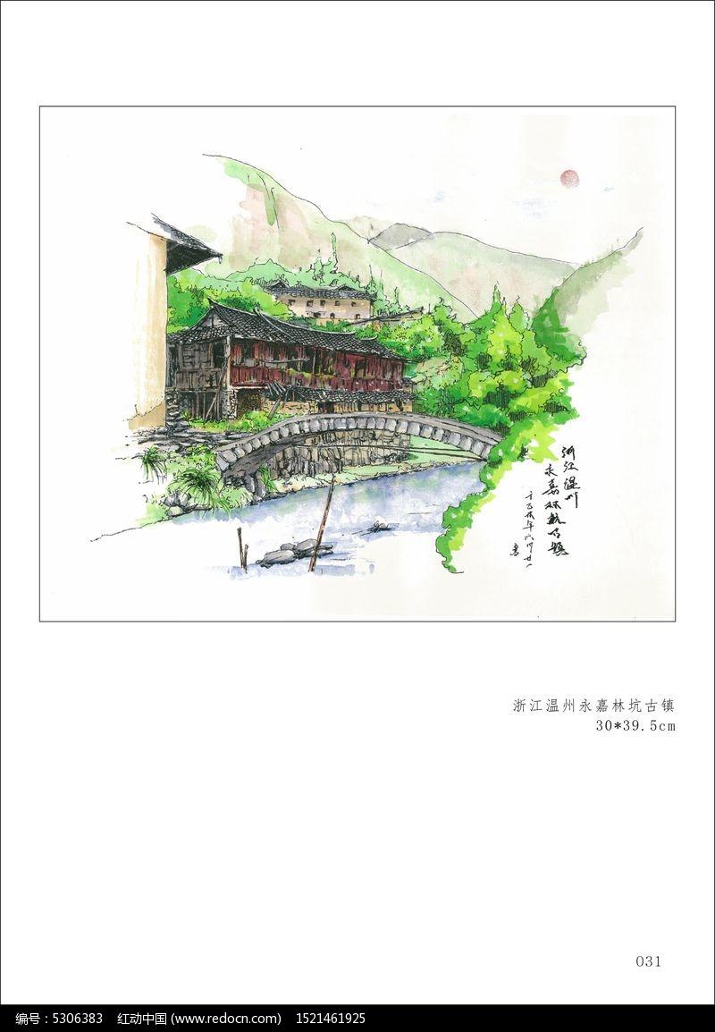 手绘江南传统园林平面图