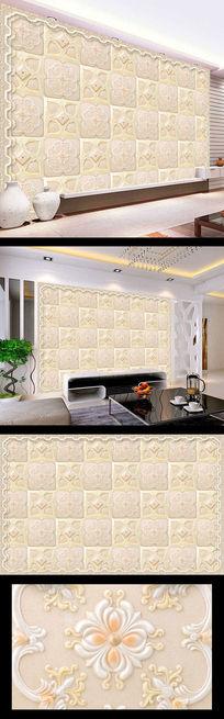大理石花纹玉璧玉雕背景墙
