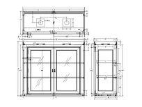 方形柜配玻璃门CAD素材 dwg