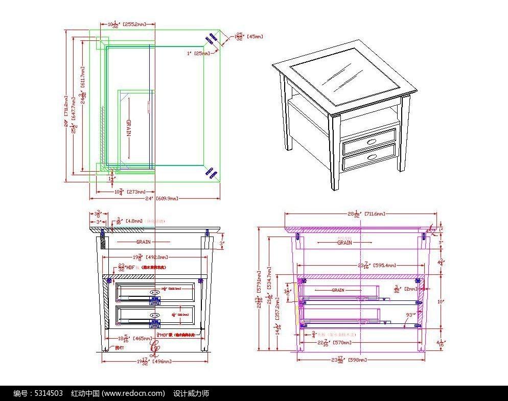 素材角几CAD尺寸_CAD图纸图片素材cad进行标注如何方形图片