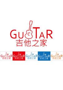 吉他元素logo标志设计AI