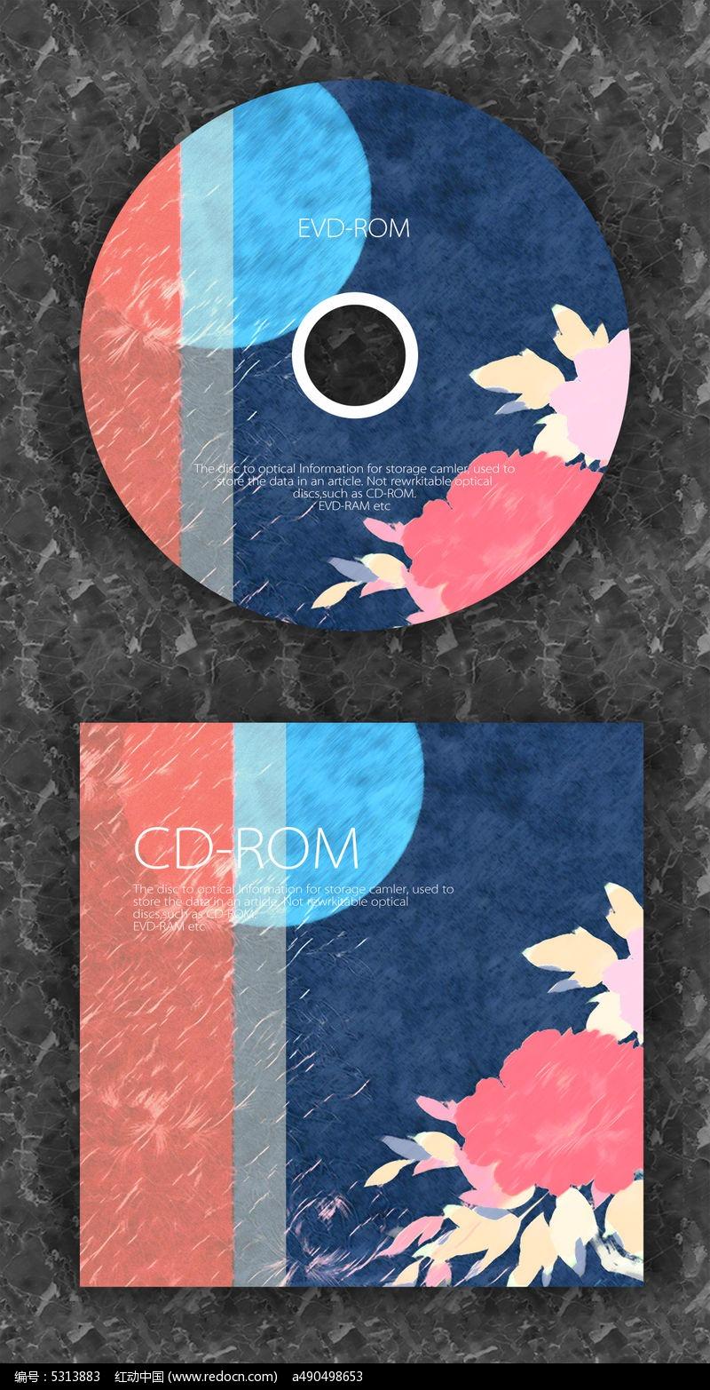 蓝红月亮时尚音乐光盘_包装设计/手提袋图片素材