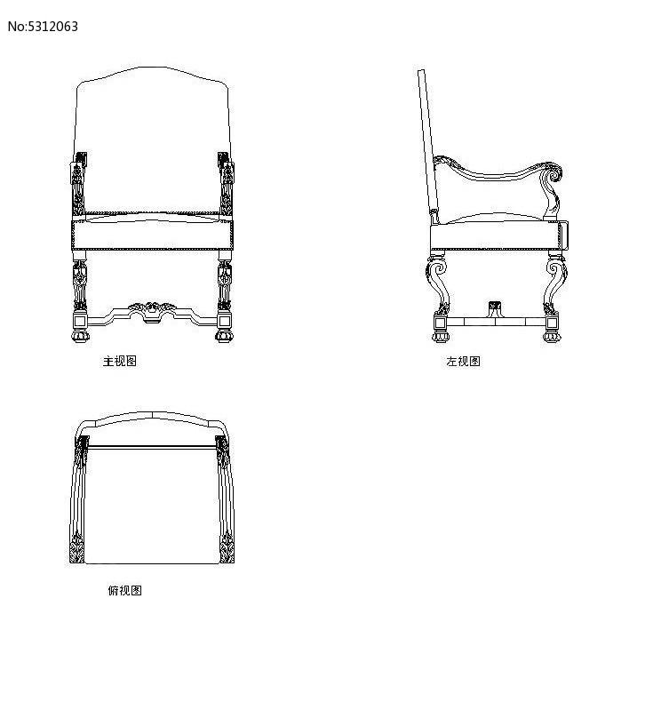 座椅平面图手绘
