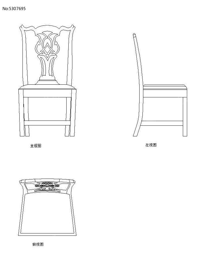 椅子v椅子CAD图纸_CAD素材图片素材天正cad的用法流程图片