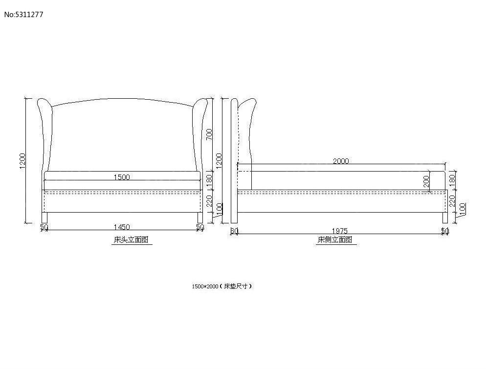 中床v图纸CAD图纸cad着的素材斜图片