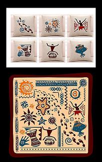 家纺印花民族图案