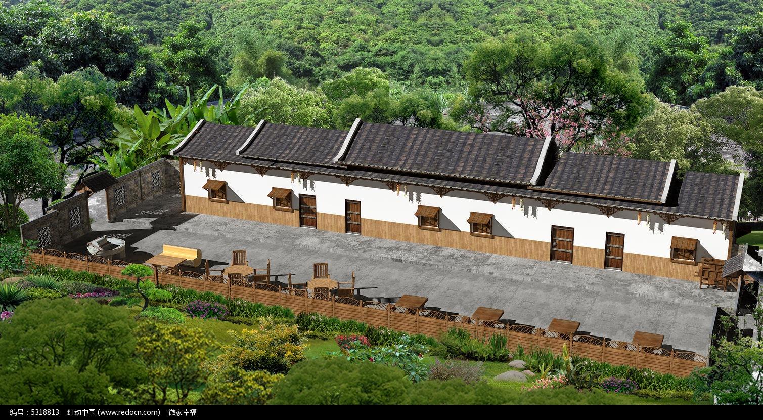 民居休闲小院图片