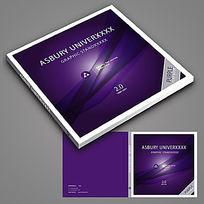 紫色正方形封面设计