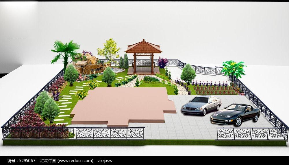 别墅花园庭院设计鸟瞰图