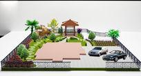 别墅花园庭院设计PSD分层