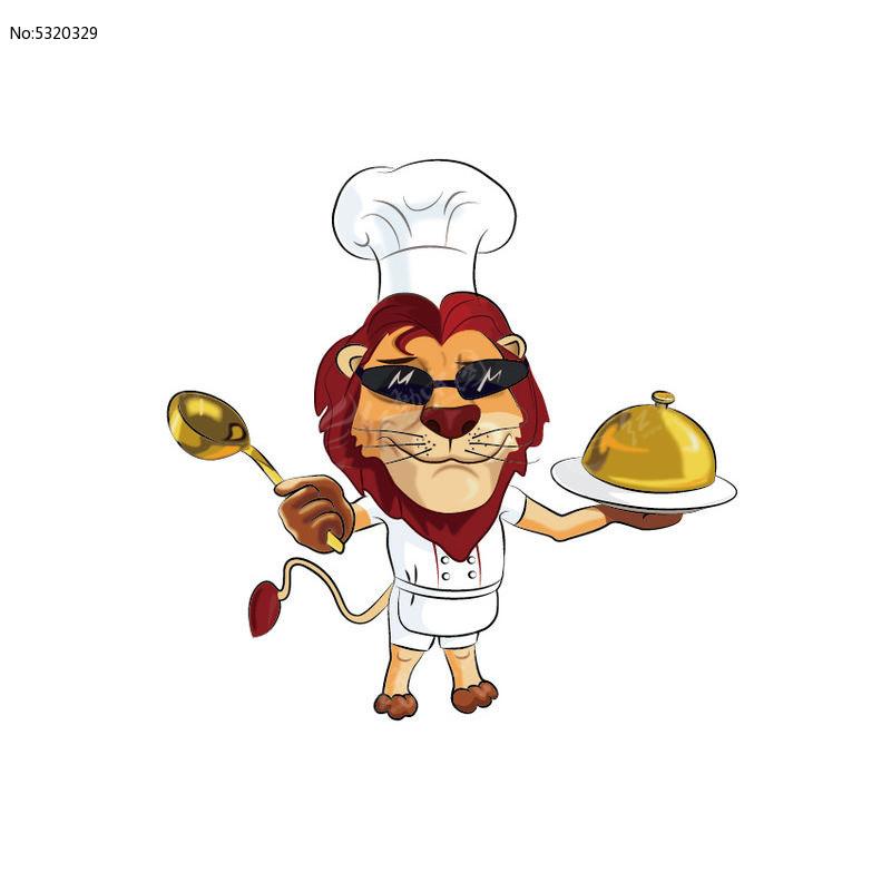 插画卡通狮子原创手绘