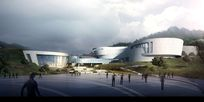 建筑表现博物馆人视图