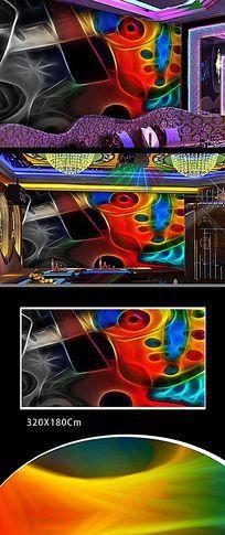 抽象色彩装饰画背景墙
