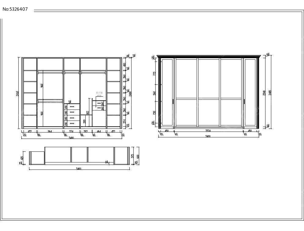 定制衣柜cad素材dwg素材下载_室内装修设计图片