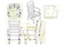弧形横条背扶手椅CAD素材