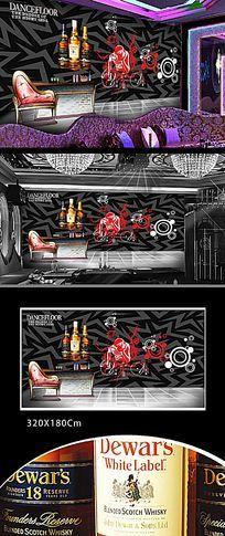 酒吧DJ装饰背景墙