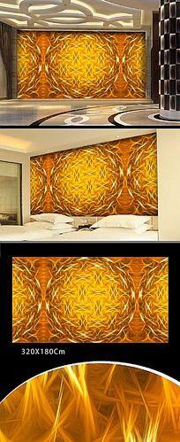 酒店色彩图案背景墙
