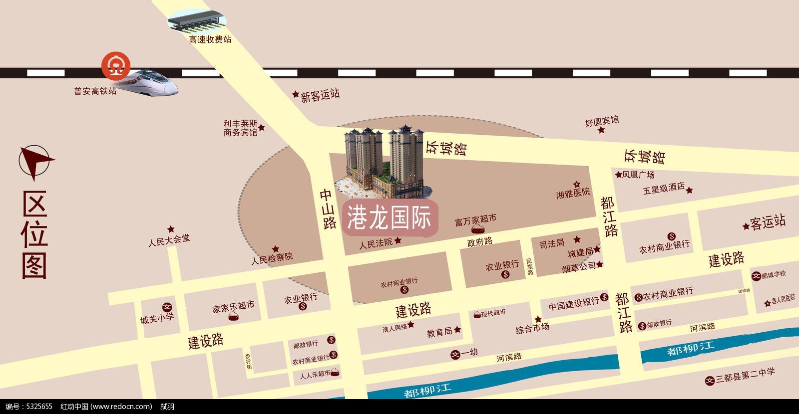 区位图psd素材下载_地图设计图片