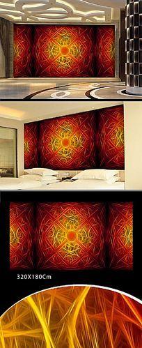 色彩图案背景墙