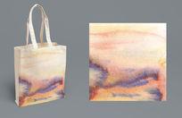 水墨纹理手拎袋
