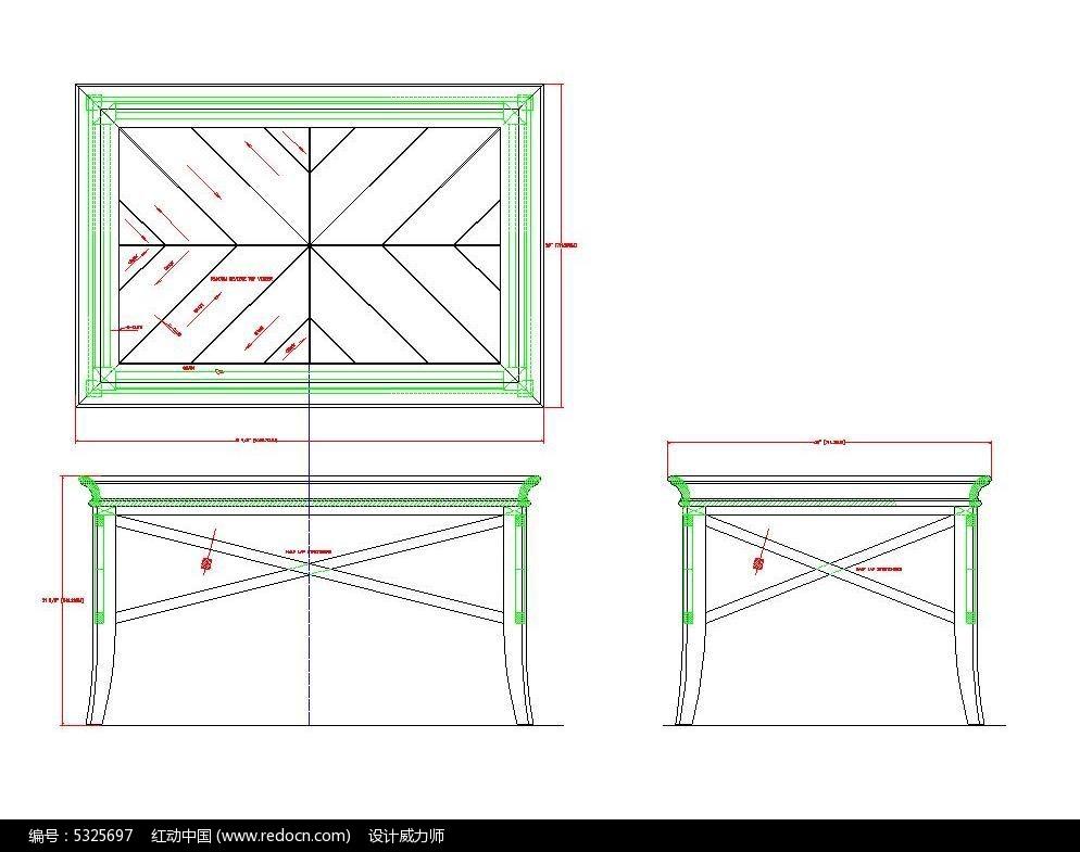 托图纸素材拼花CAD茶几_CAD盘式图片素材cad的嘛视口是干图片