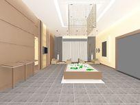现代素雅高端售楼处3D布置设计模型素材