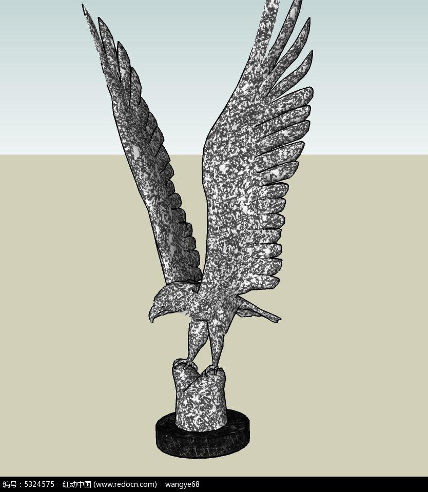 景观鸟类雕塑手绘