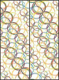 彩色圆环组合花纹移门图案